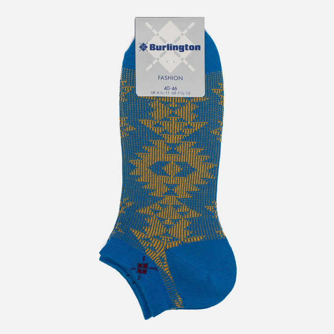 Мужские носки Burlington Ethno Sneaker Manganese Blue