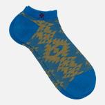 Мужские носки Burlington Ethno Sneaker Manganese Blue фото- 1