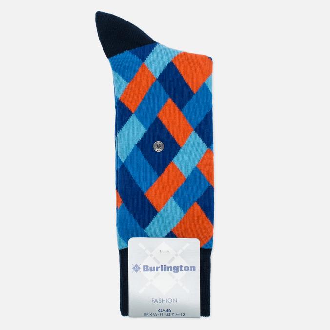 Falke Geometric Men's socks Marine