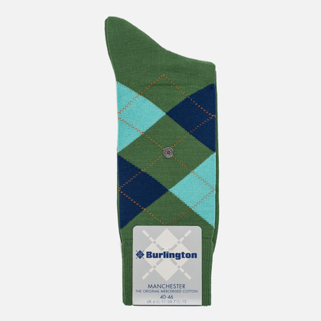 Мужские носки Burlington Manchester Bright Lime