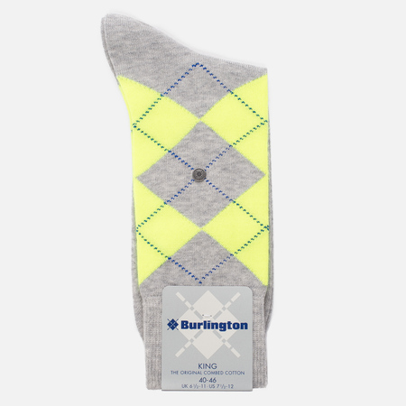 Мужские носки Burlington Neon King Grey