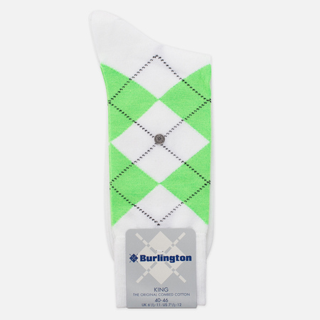 Мужские носки Burlington Neon King White