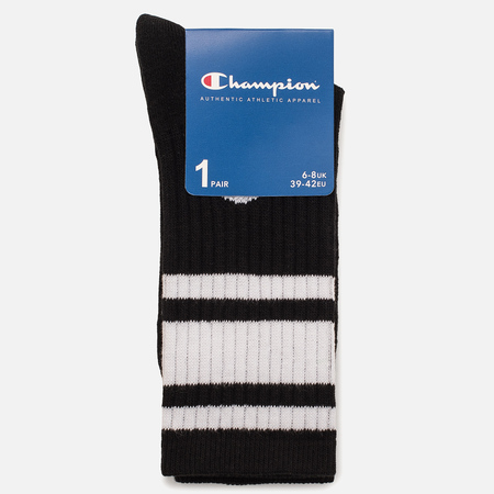 Мужские носки Champion Reverse Weave Crew Black/White