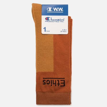 Мужские носки Champion Reverse Weave x Wood Wood Ethics Brown