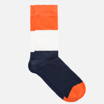 Мужские носки Democratique Socks Originals Block Party Navy/Blood Orange/Broken White фото- 1