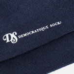 Мужские носки Democratique Socks Originals Block Party Navy/Blood Orange/Broken White фото- 2