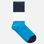 Мужские носки Democratique Socks Originals Block Party Sea Blue/Navy/Broken White фото- 1