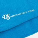 Мужские носки Democratique Socks Originals Block Party Sea Blue/Navy/Broken White фото- 2