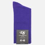 Мужские носки Democratique Socks Socks Originals Solid Deep Purple фото- 0
