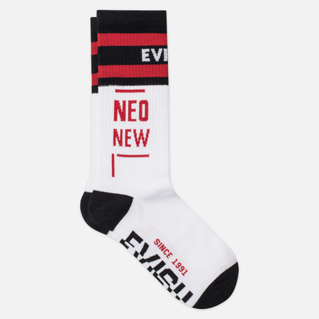 Носки Evisu Heritage Logo Jacquard White