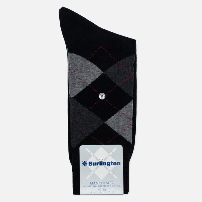 Burlington Manchester Men's socks Black