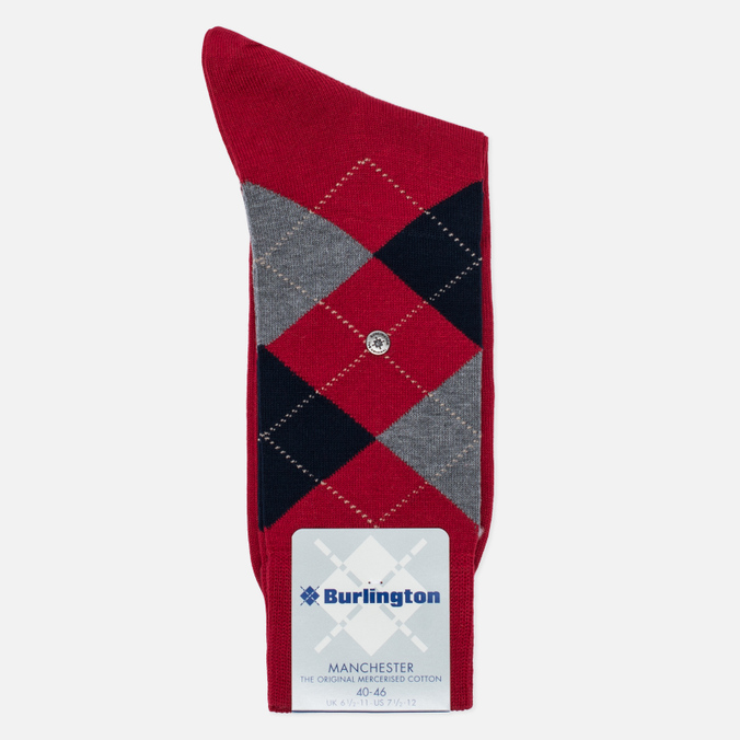 Burlington Manchester Men's socks Coral Red