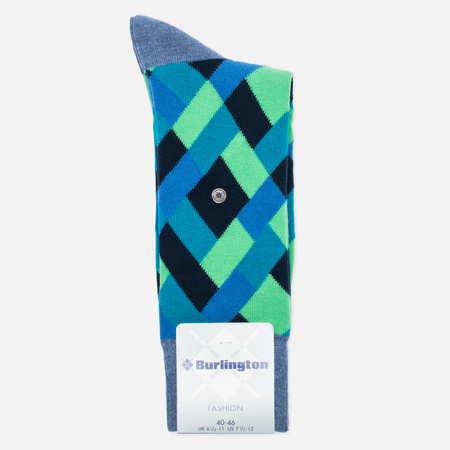 Мужские носки Burlington Geometric Light Jeans