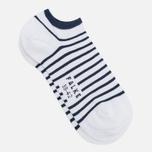 Falke Nautical Stripe Socks White/Navy photo- 1