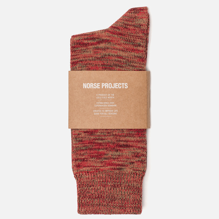 Мужские носки Norse Projects Bjarki Blend Cotton Cabin Red