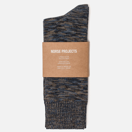 Мужские носки Norse Projects Bjarki Blend Cotton Ensign Blue