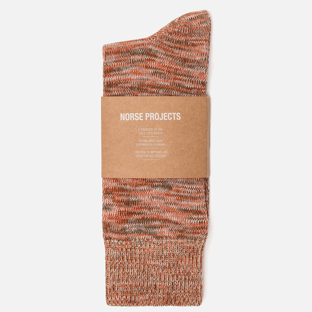 Мужские носки Norse Projects Bjarki Blend Cotton Oxide Orange