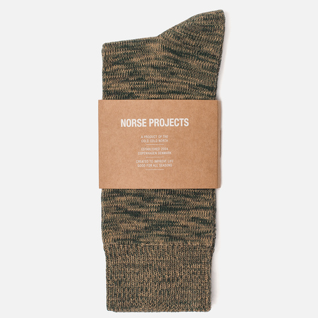 Мужские носки Norse Projects Bjarki Blend Cotton Quartz Green