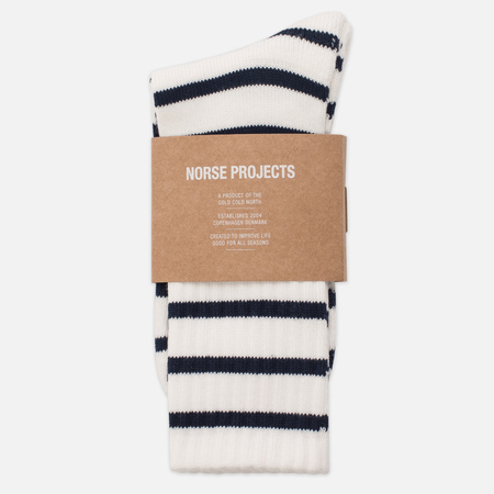 Мужские носки Norse Projects Bjarki Normandy Ecru