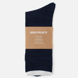 Norse Projects Bjarki Seed Stitch Men's Socks Navy photo- 0