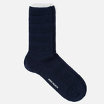 Norse Projects Bjarki Seed Stitch Men's Socks Navy photo- 1