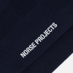 Norse Projects Bjarki Seed Stitch Men's Socks Navy photo- 2