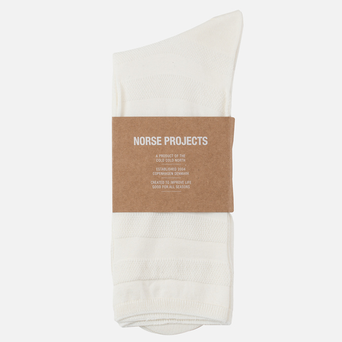 Мужские носки Norse Projects Bjarki Seed Stitch White