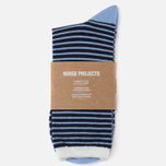 Мужские носки Norse Projects Bjarki Wool Stripe Carrier Blue фото- 0