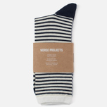 Носки Norse Projects Bjarki Wool Stripe Ecru фото- 0