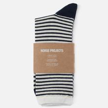 Носки Norse Projects Bjarki Wool Stripe Ecru фото- 0