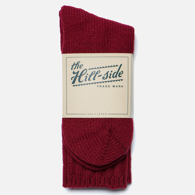 Мужские носки The Hill-Side Merino Wool Ragg Red
