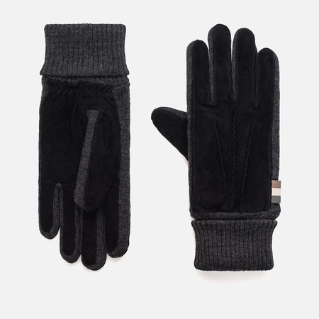Мужские перчатки Aquascutum Vector Suede Knitted Black