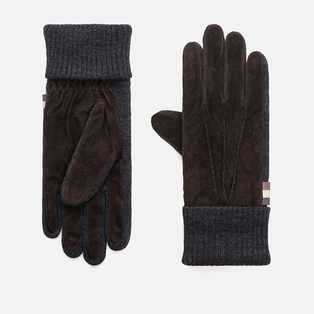 Мужские перчатки Aquascutum Vector Suede Knitted Brown