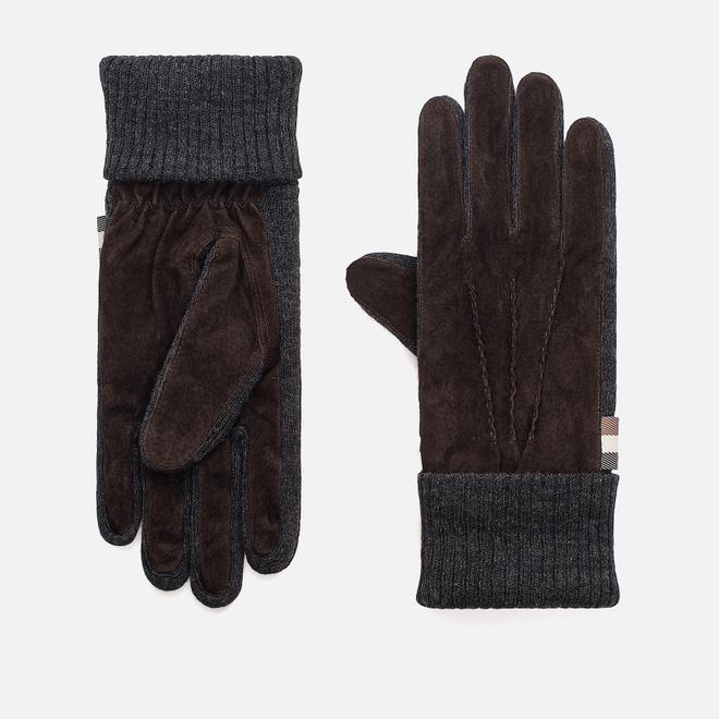 Перчатки Aquascutum Vector Suede Knitted Brown