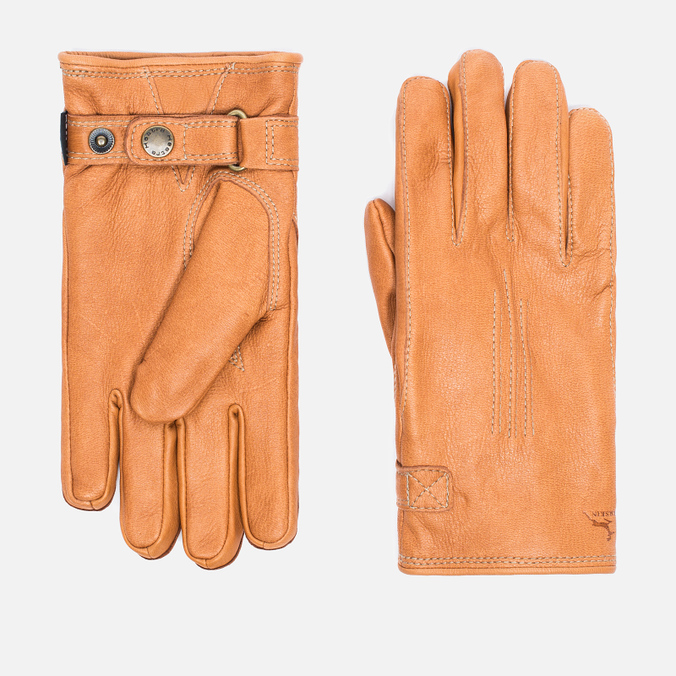 Мужские перчатки Hestra Deerskin Lambsfur Lined Tan