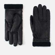 Мужские перчатки Hestra Deerskin Primaloft Ribbed Black фото- 0