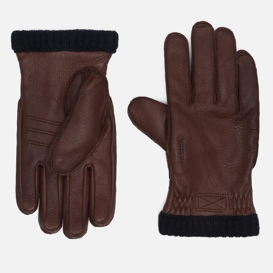 Мужские перчатки Hestra Deerskin Primaloft Ribbed Chocolate