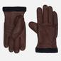 Мужские перчатки Hestra Deerskin Primaloft Ribbed Chocolate фото - 0
