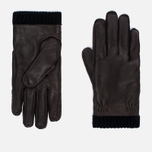 Мужские перчатки Hestra Deerskin Primaloft Ribbed Dark Brown фото- 0