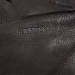 Мужские перчатки Hestra Deerskin Primaloft Ribbed Dark Brown фото- 1
