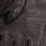 Мужские перчатки Hestra Deerskin Primaloft Ribbed Dark Brown фото- 3