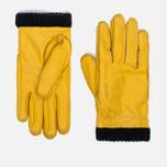 Мужские перчатки Hestra Deerskin Primaloft Ribbed Yellow фото- 0