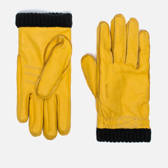 Мужские перчатки Hestra Deerskin Primaloft Ribbed Yellow