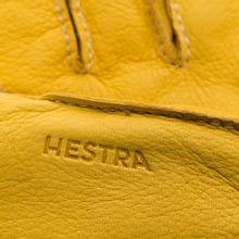 Мужские перчатки Hestra Deerskin Primaloft Ribbed Yellow фото- 3