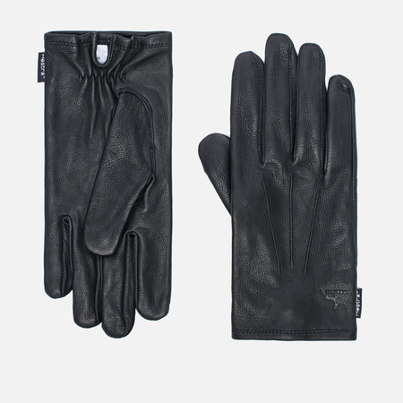 Hestra Deerskin Silk Lined Men's Gloves Black