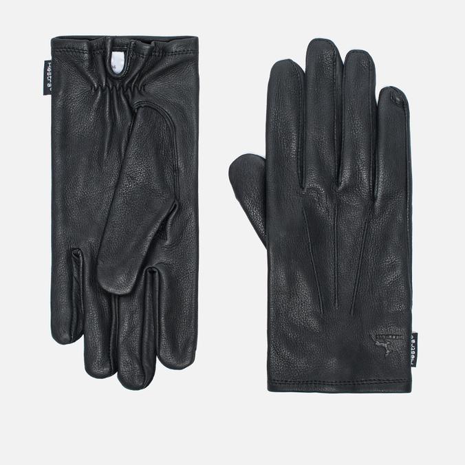 Мужские перчатки Hestra Deerskin Silk Lined Black