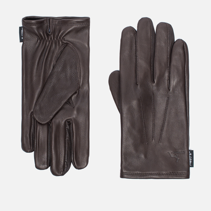 Мужские перчатки Hestra Deerskin Silk Lined Dark Brown