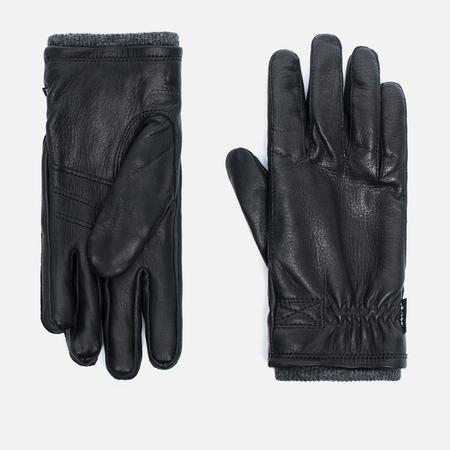 Мужские перчатки Hestra Deerskin Swisswool Rib Cuff Black