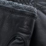 Мужские перчатки Hestra Deerskin Swisswool Rib Cuff Black фото- 1