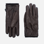 Мужские перчатки Hestra Deerskin Swisswool Rib Cuff Dark Brown фото- 0